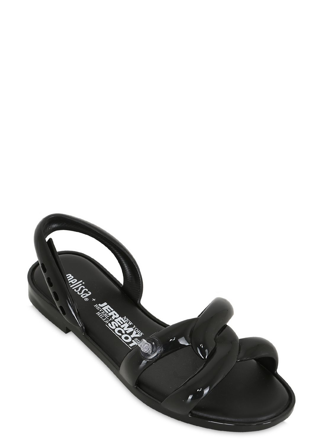 Melissa 10mm Inflatable Rubber Sandals in Black | Lyst