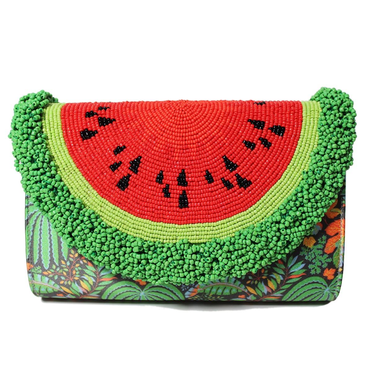 Sarah's bag Curve Watermelon Deco Clutch