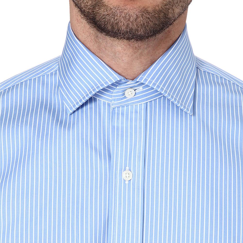 In Regent Lauren Customfit Ralph Shirt Men Blue Lyst For SUVzpqM