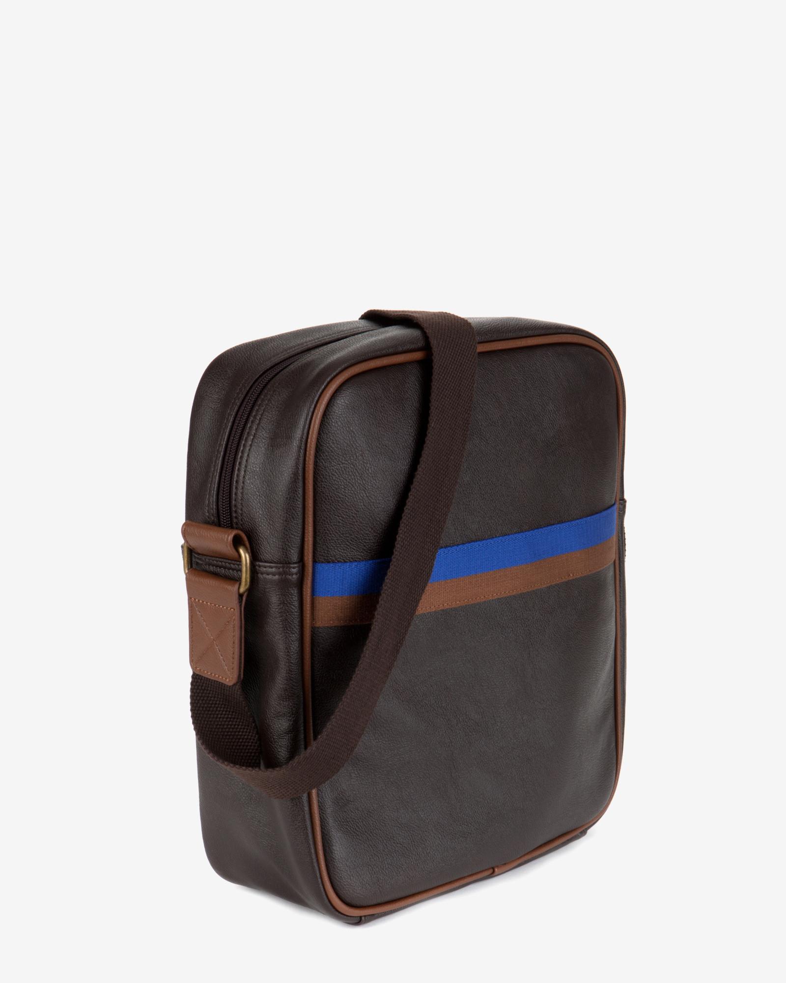 Ted Baker Cross Body Flight Bag in Chocolate (Brown) for Men