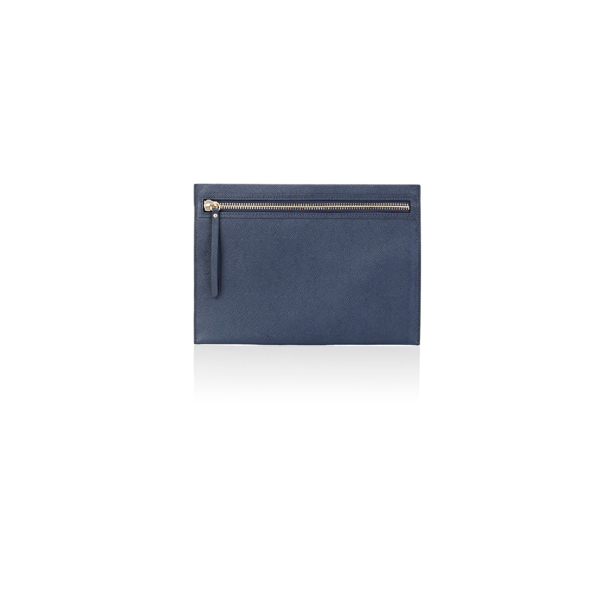Barneys New York Large Pouch In Blue Lyst