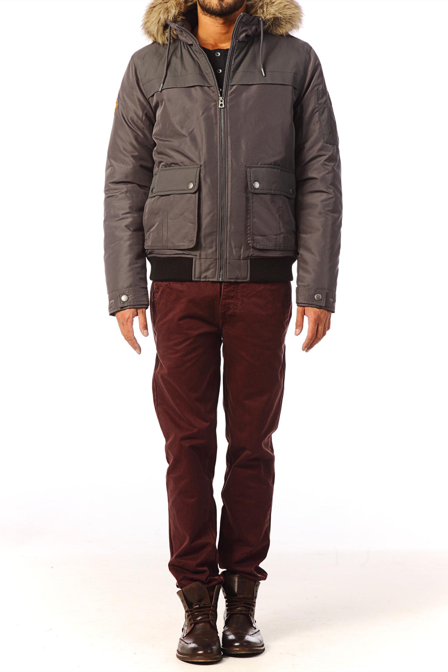 jack jones quilted jacket in brown gray lyst. Black Bedroom Furniture Sets. Home Design Ideas