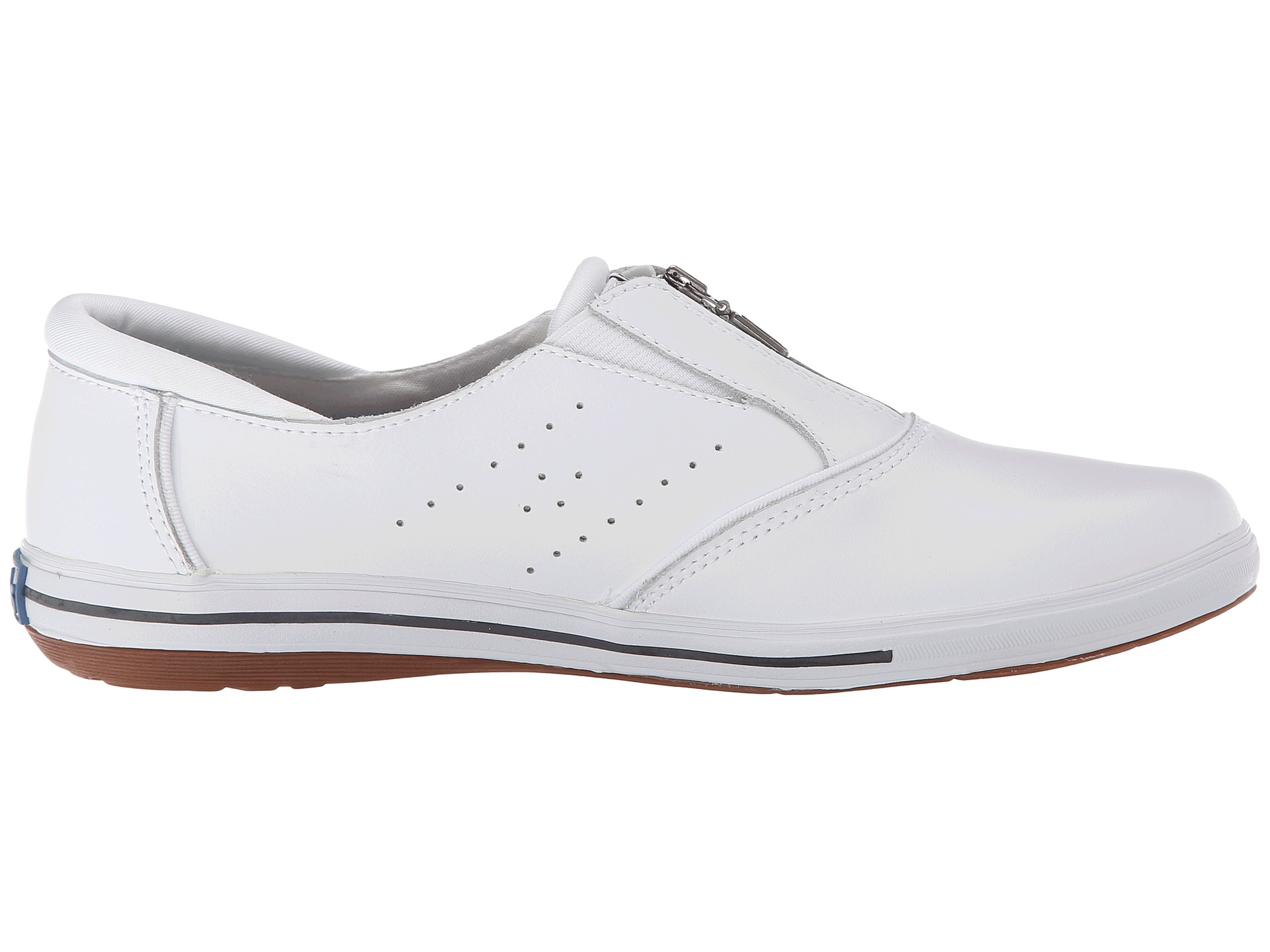 Lyst keds pacey zip smooth leather in white jpg 1920x1440 Keds shoes nike b033dee58