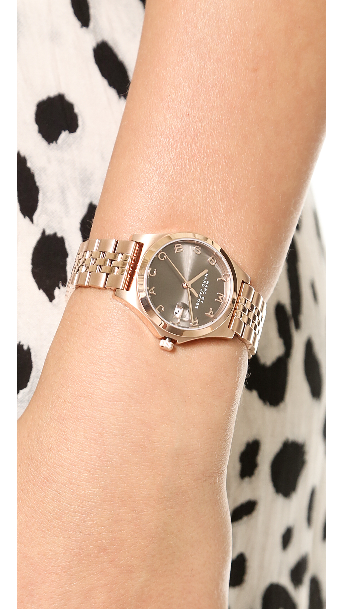 b93b8ed5791a2 Marc By Marc Jacobs The Slim Watch - Rose Gold/Dirty Martini in Pink ...