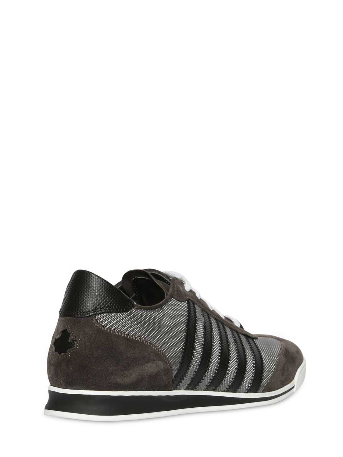 DSquared² Synthetic Nylon Canvas & Suede Running Sneakers in Grey (Grey)