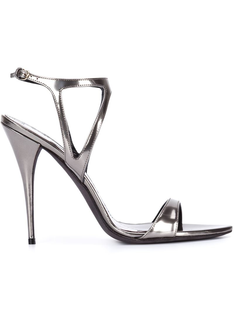 Narciso Rodriguez Metallic T-Strap Sandals buy cheap low shipping sale countdown package outlet shop offer Manchester for sale cheap buy authentic XnvdA