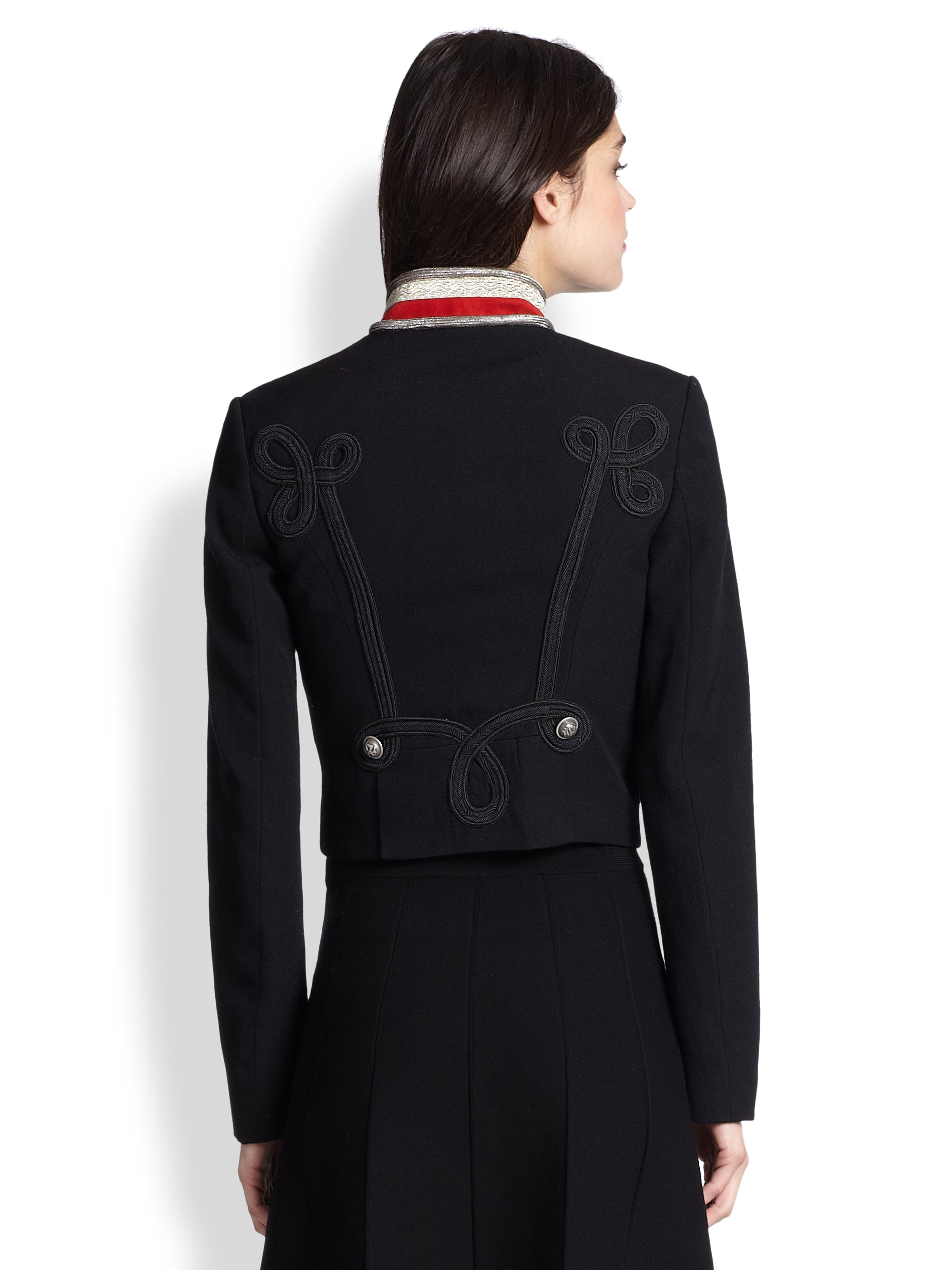 Polo Ralph Lauren | Black Military Officer\u0026#39;S Jacket | Lyst