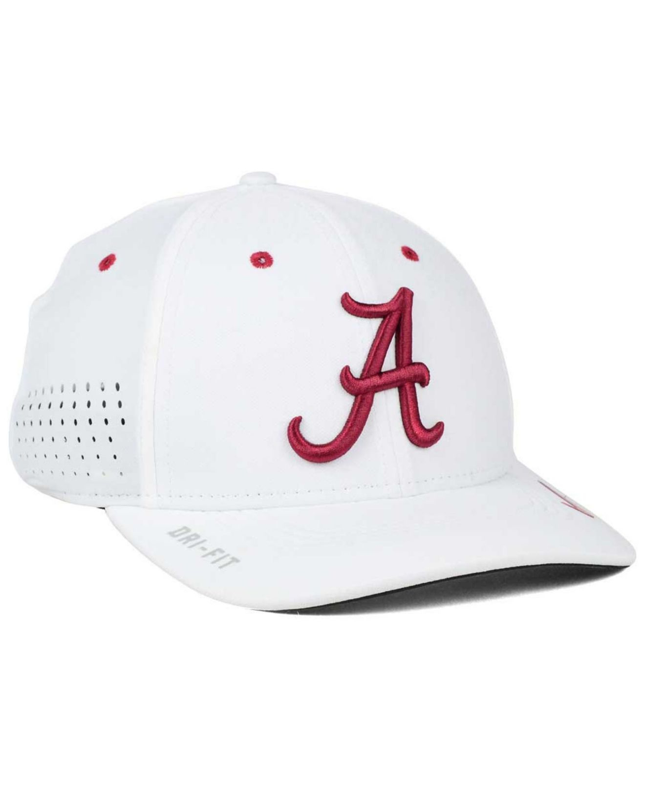 5b353bec27f ... promo code for lyst nike alabama crimson tide sideline cap in white for  men c81ec 80258
