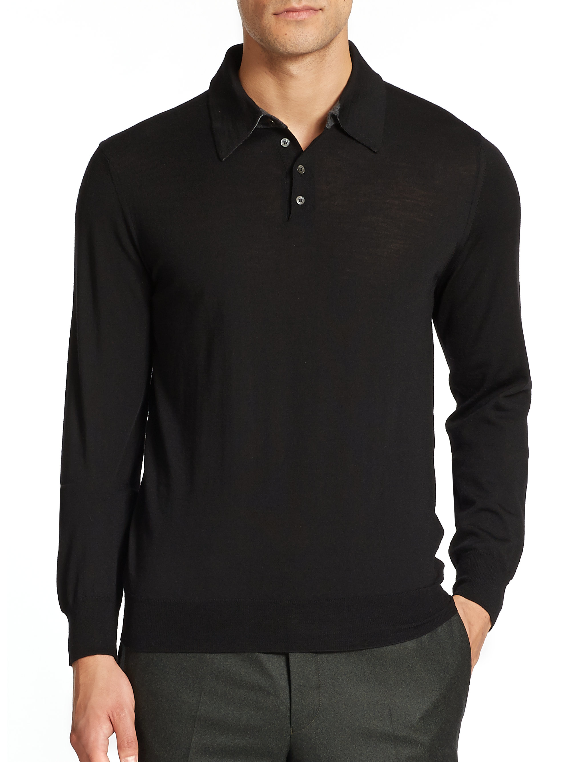 Long Sleeved Polo Shirts For Men