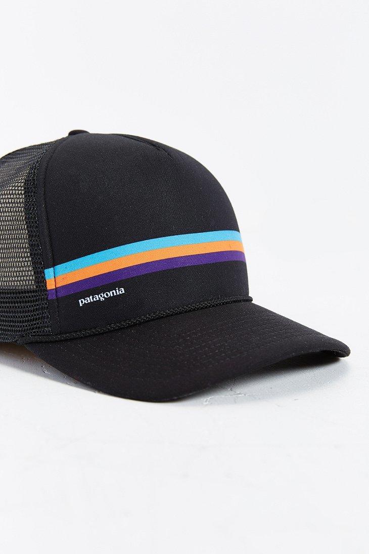 Lyst - Patagonia Fitz Roy Lopro Trucker Hat in Black for Men a0b5f1cf2ef