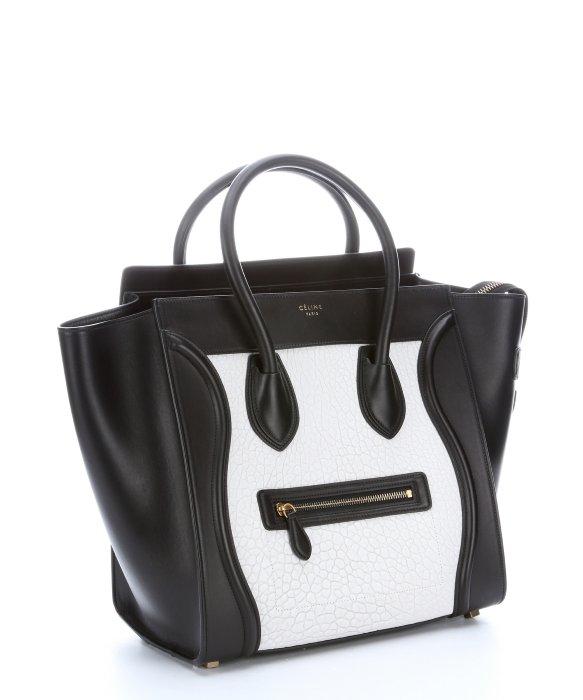 Lyst Céline Black And White Embossed Leather Phantom Tze