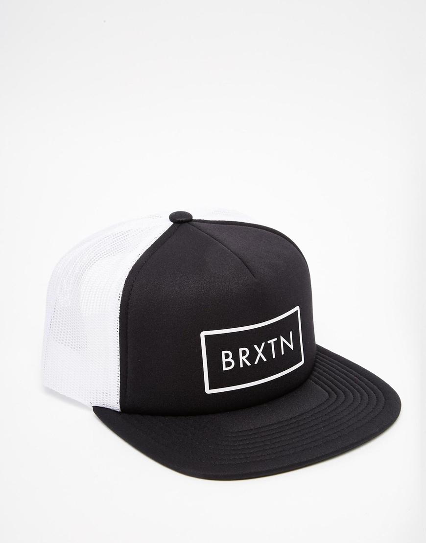 d170780cfef6e ... good lyst brixton rift mesh trucker cap in black for men 40aaa 48588