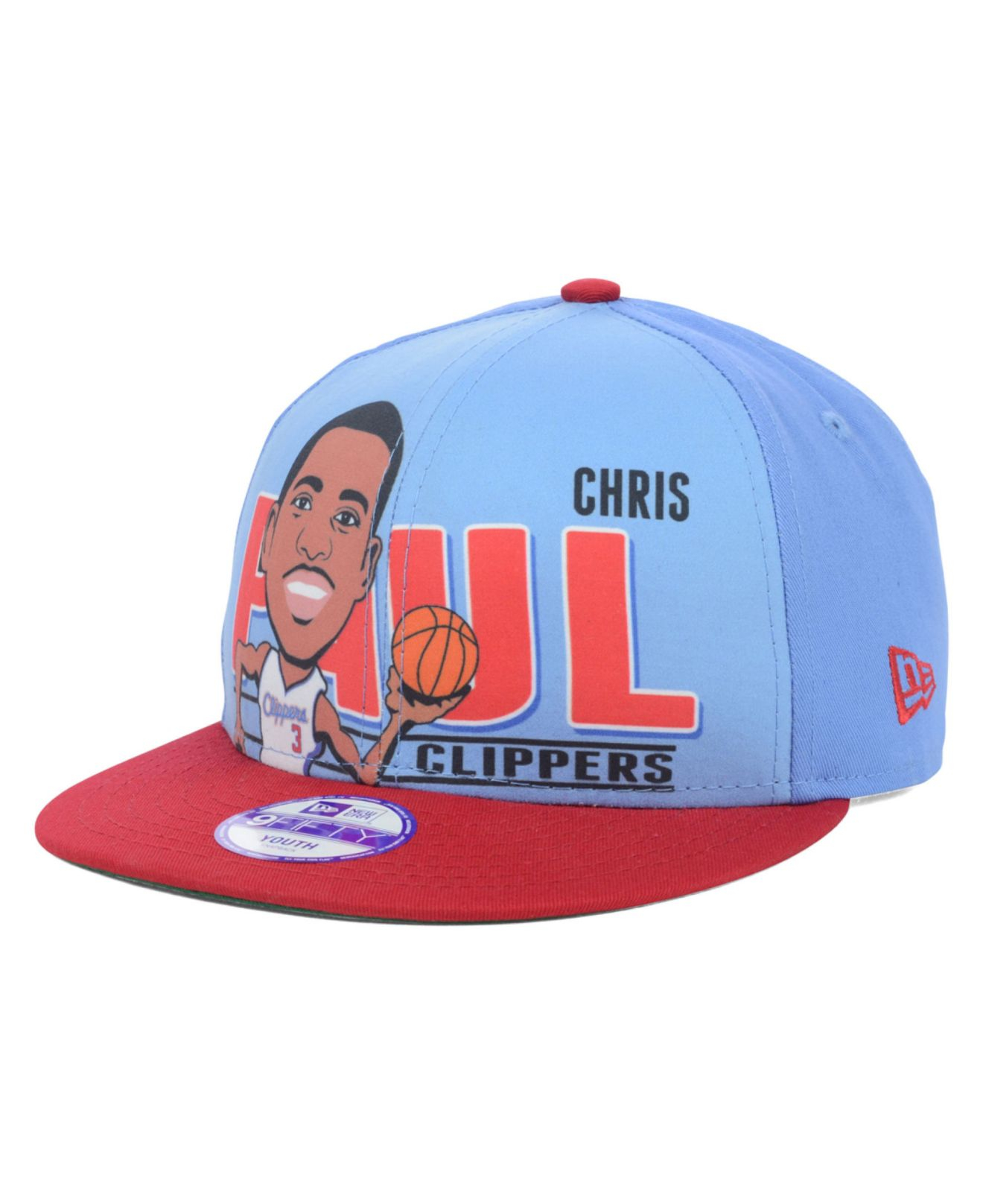 09dd1bfbffc ... nba basketball hat new era 9fifty snapback cap blue red f47d6 1ecf6   cheap lyst ktz kids chris paul los angeles clippers player 9fifty bfb83  05ab7