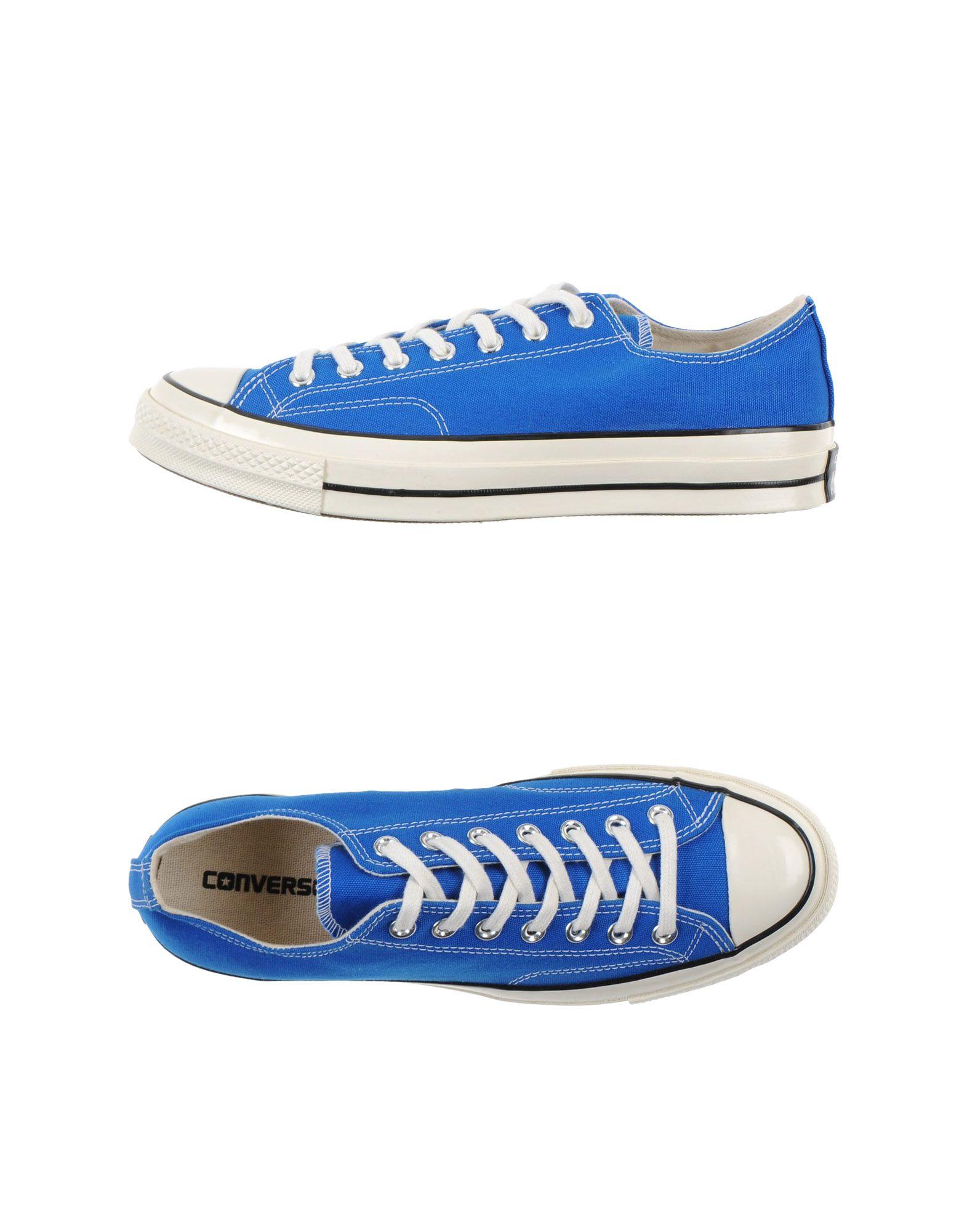 Blue Low Top Converse Shoes