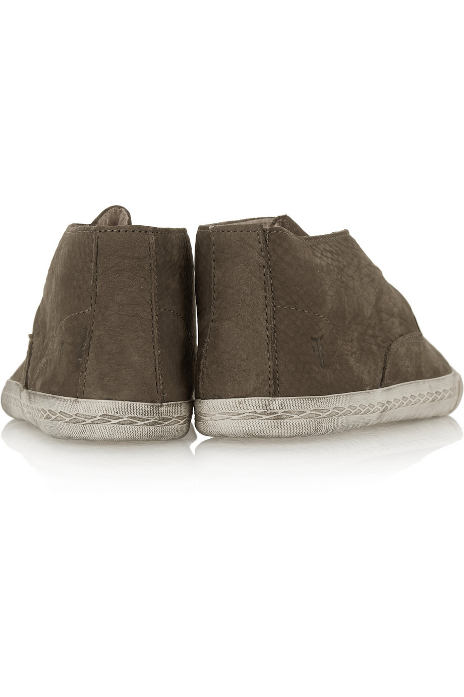 Frye Mindy Chukka Brushed-Suede Ankle Boots in Brown