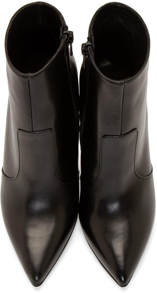 Versus Black Medallion Stilleto Boots