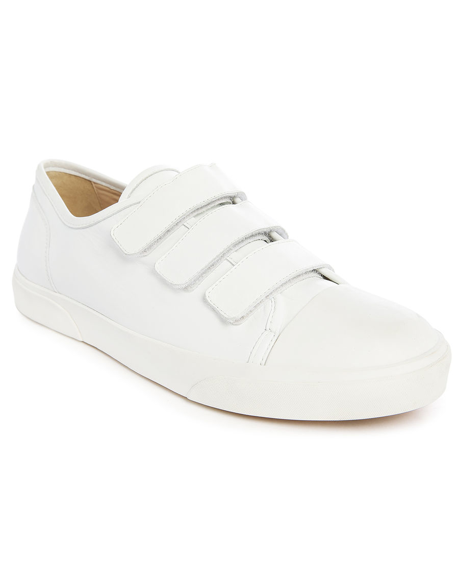White Designer Velcro Shoes