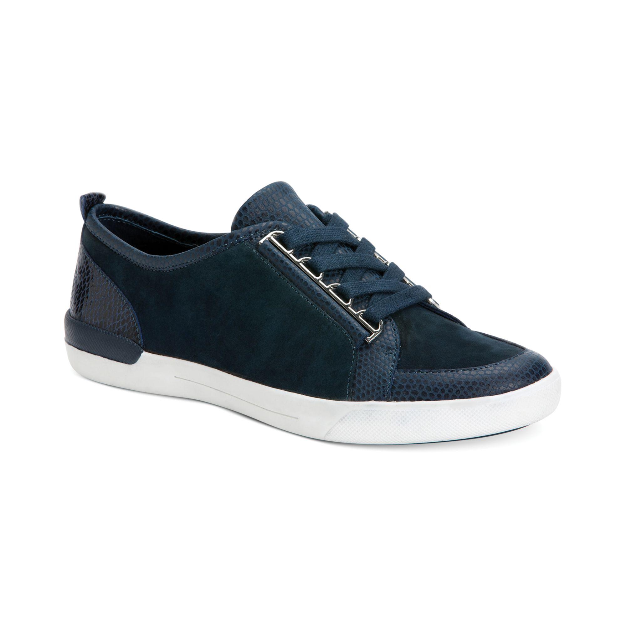 calvin klein women 39 s tanita sneakers in blue indigo lyst. Black Bedroom Furniture Sets. Home Design Ideas
