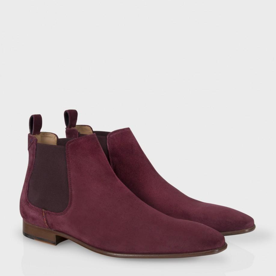 4c993c764d7e Paul Smith Burgundy Suede 'Falconer' Chelsea Boots in Purple for Men ...