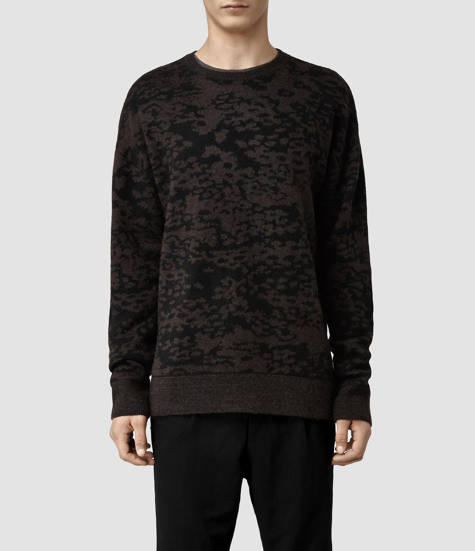 4b927dfb7e386 AllSaints Magma Crew Sweater in Black for Men - Lyst