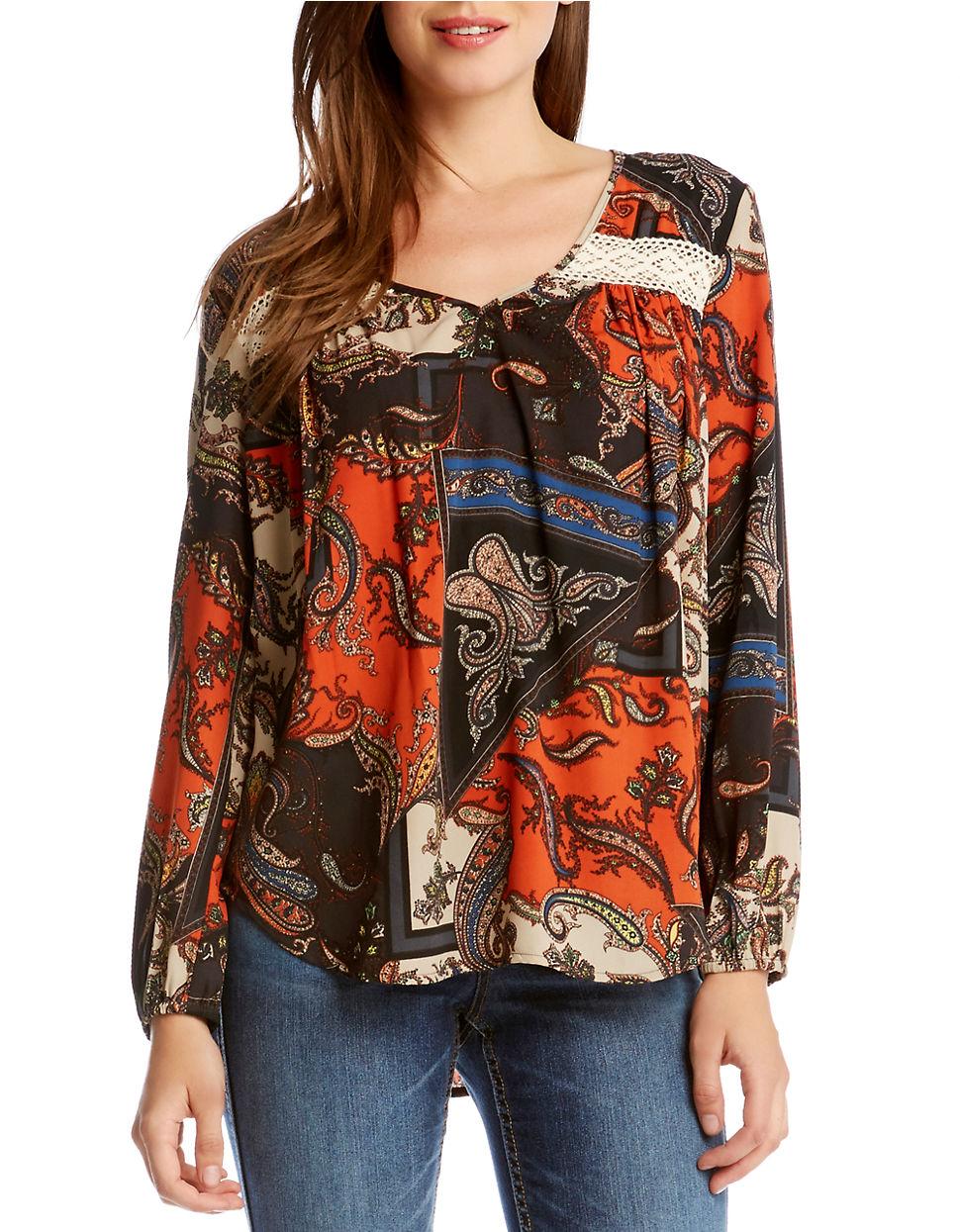 Karen Millen Lace Print Blouse 78