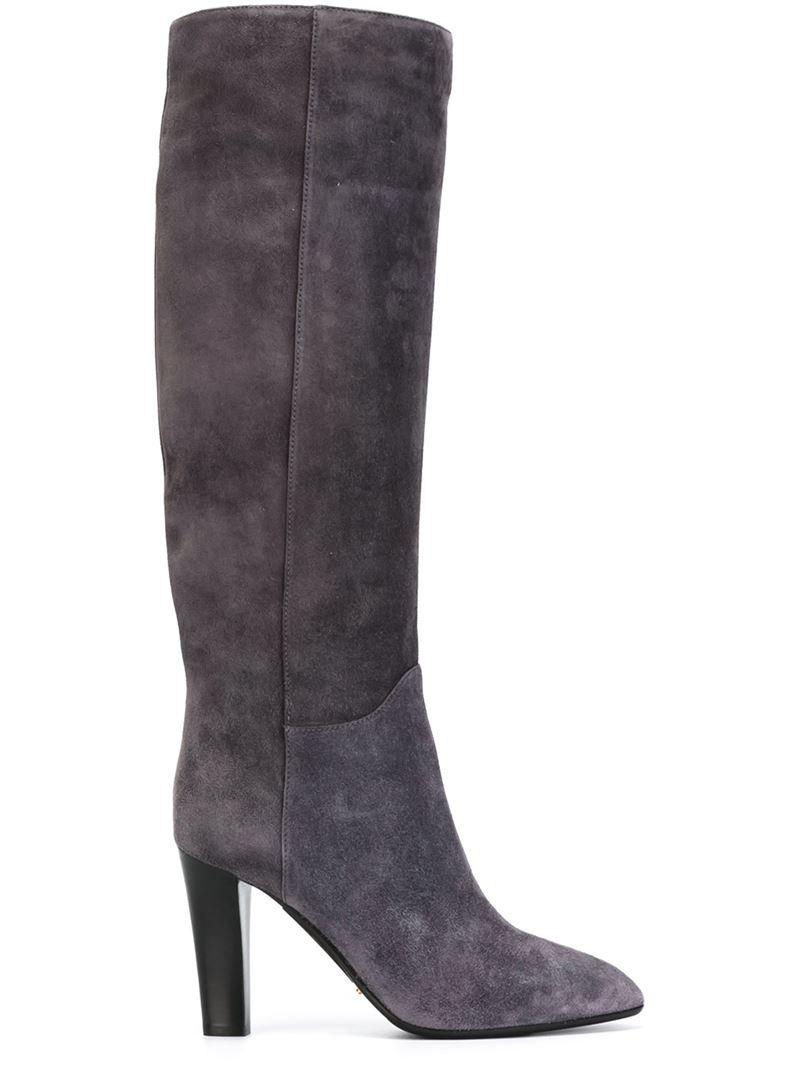 Sergio rossi High Heel Knee Boots in Gray