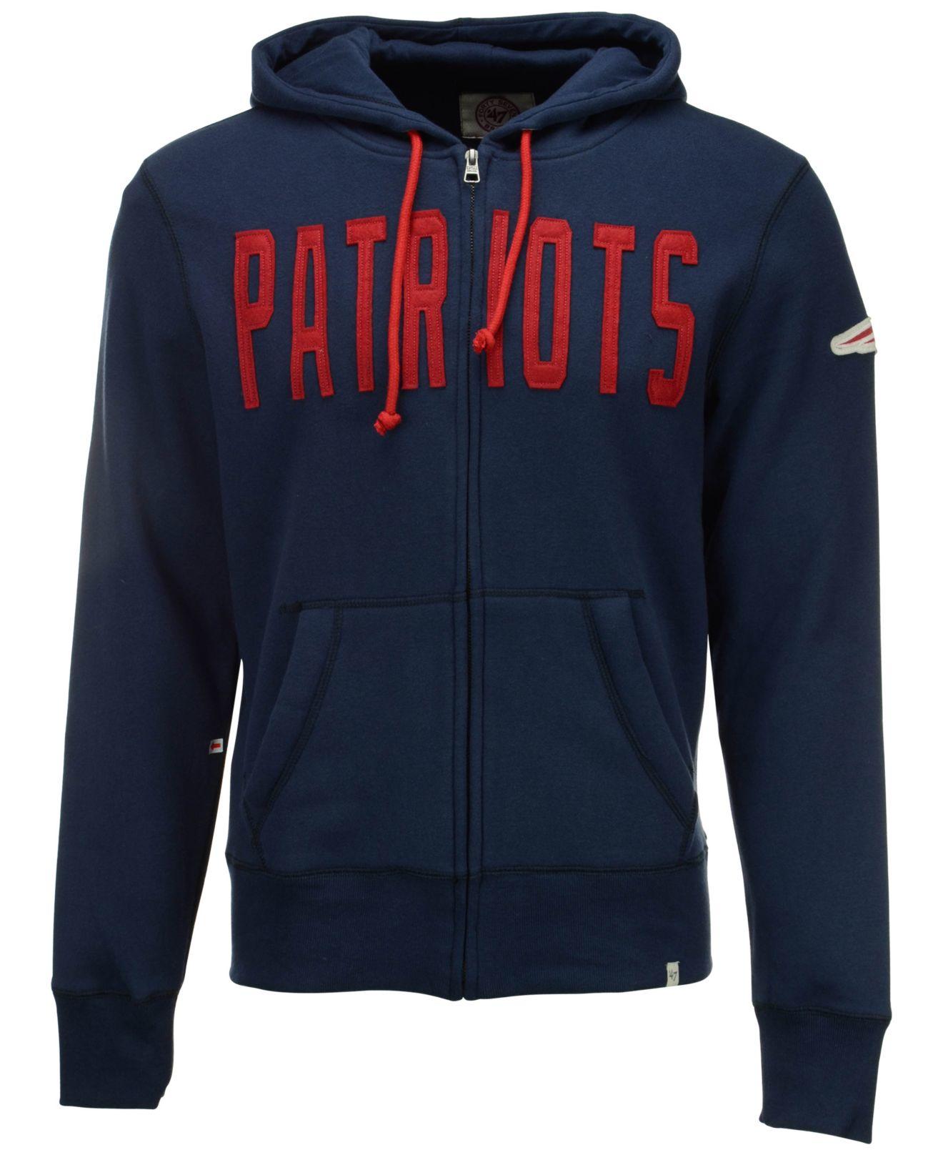 Lyst - 47 Brand Men s New England Patriots Cross Check Full-zip ... 1500a5b22
