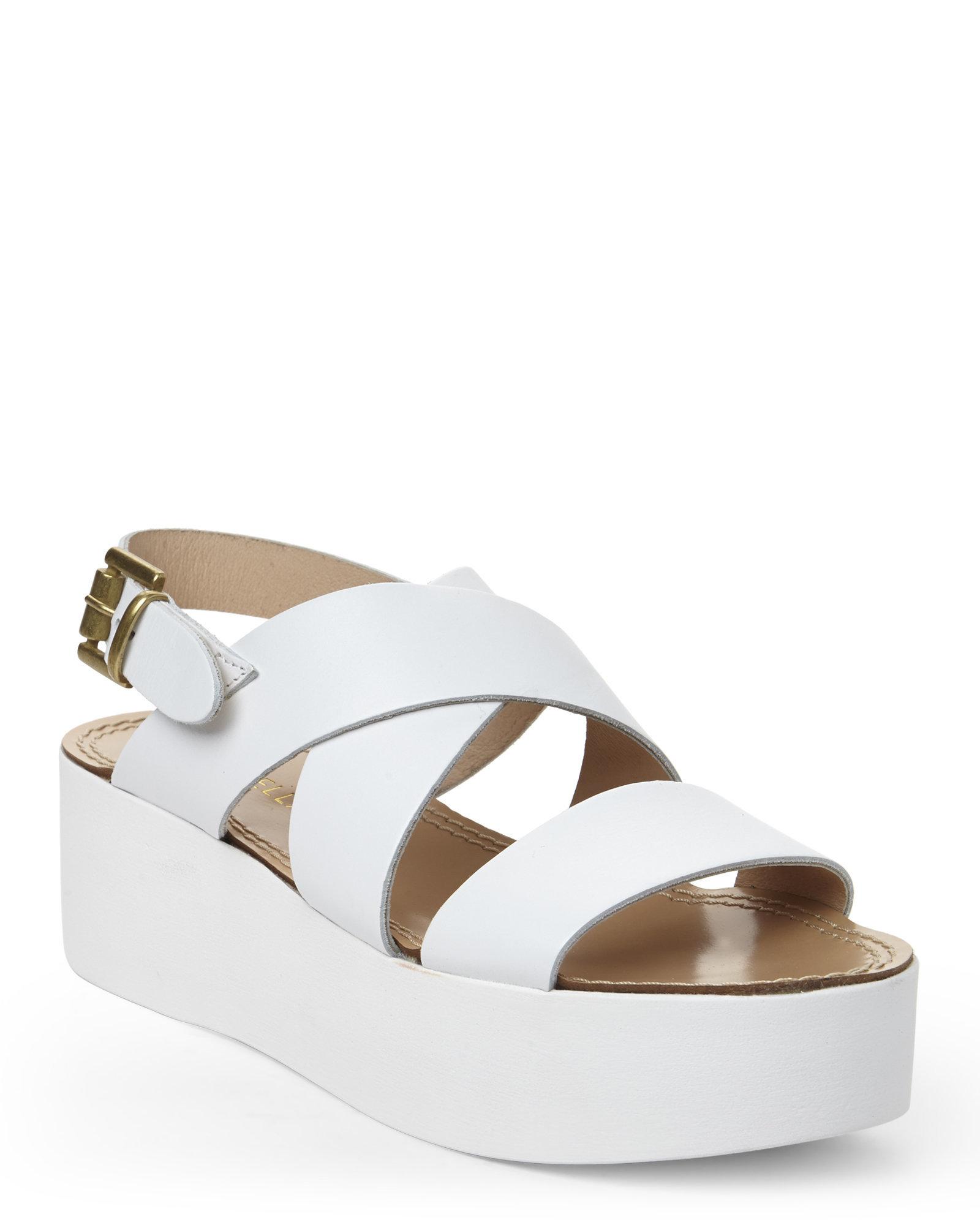 gabriella white platform sandals in white lyst
