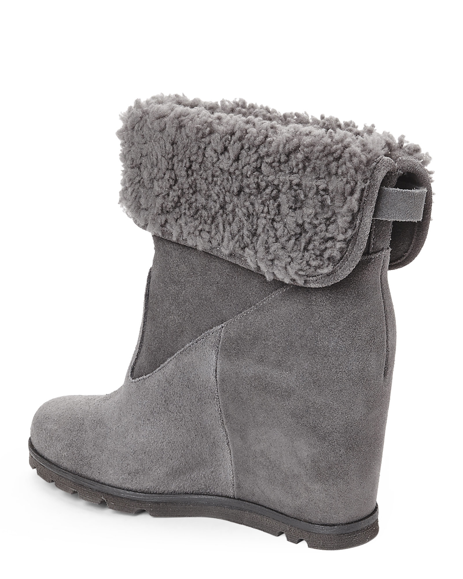 94972c3640a UGG Gray Grey Kyra Wedge Boots