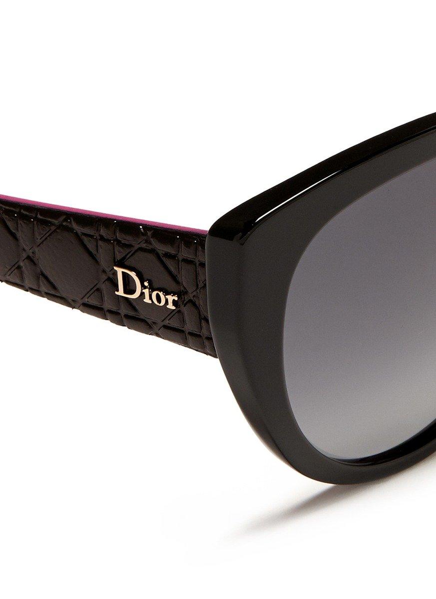 Dior Montaigne Acetate Round Optical Glasses In Blue Lyst