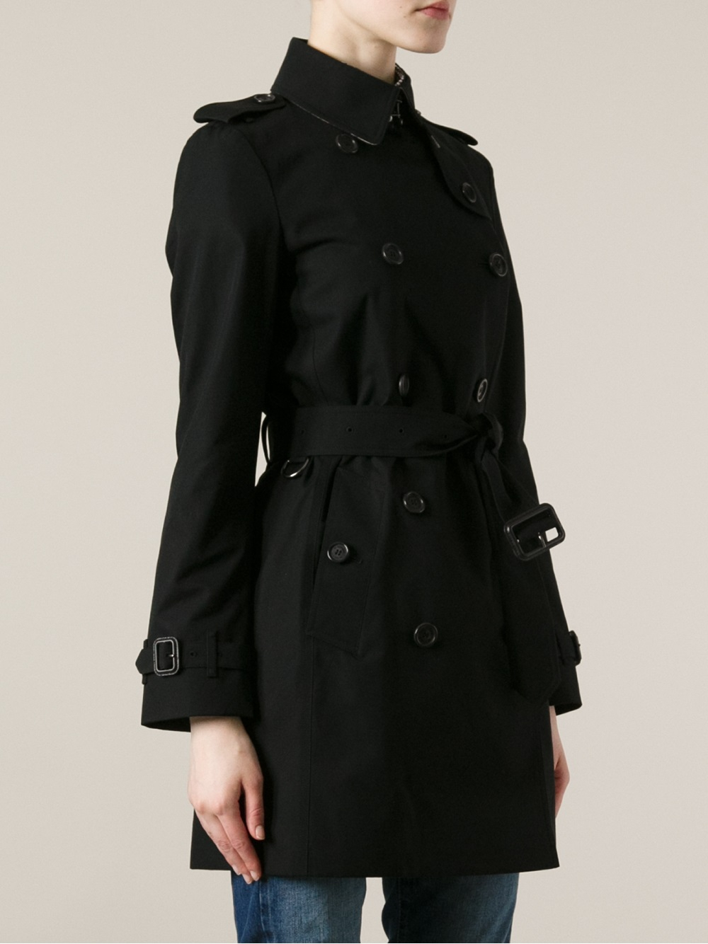 lyst burberry 39 balmoral 39 trench coat in black. Black Bedroom Furniture Sets. Home Design Ideas