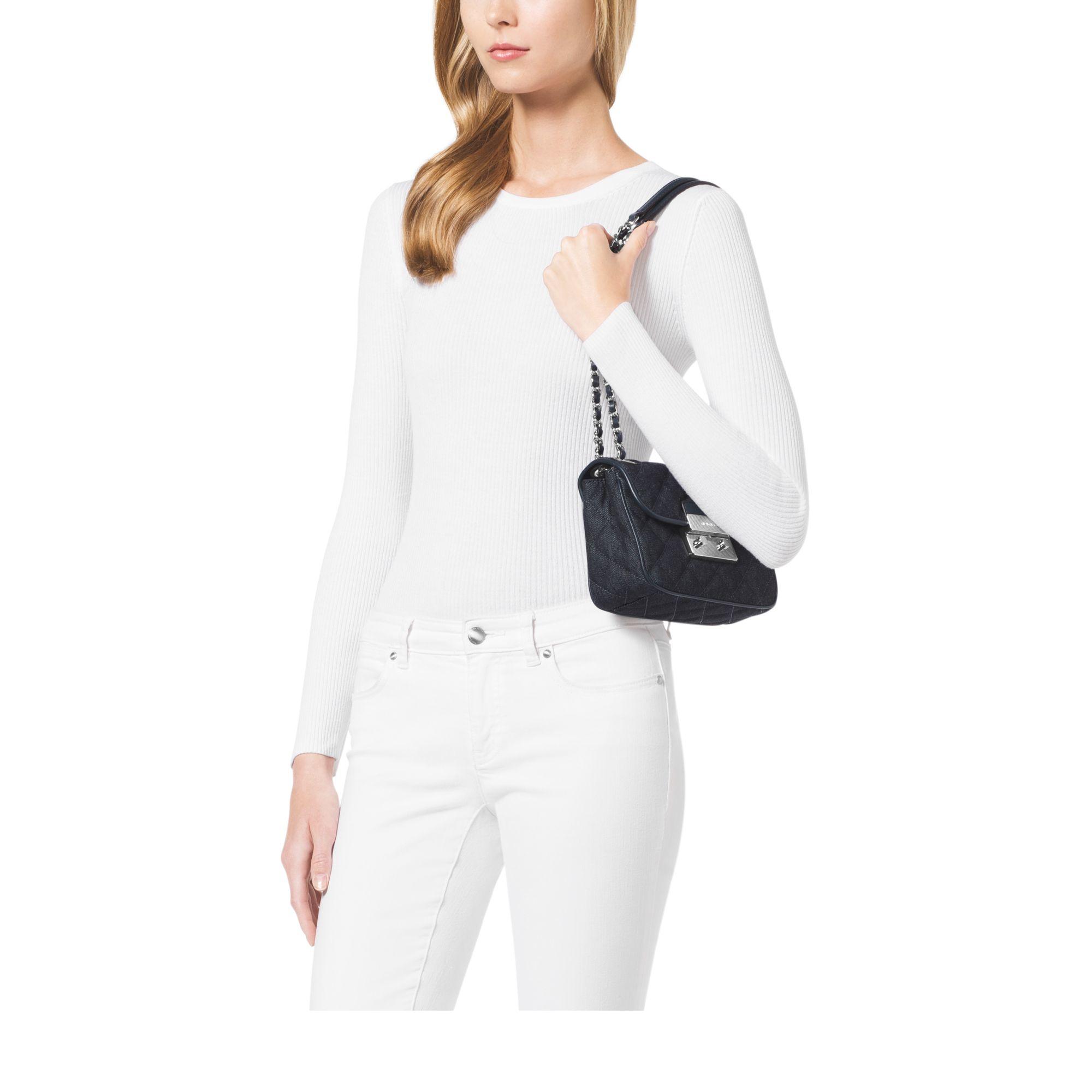 Michael Kors Small Sloan Quilted Shoulder Bag 106