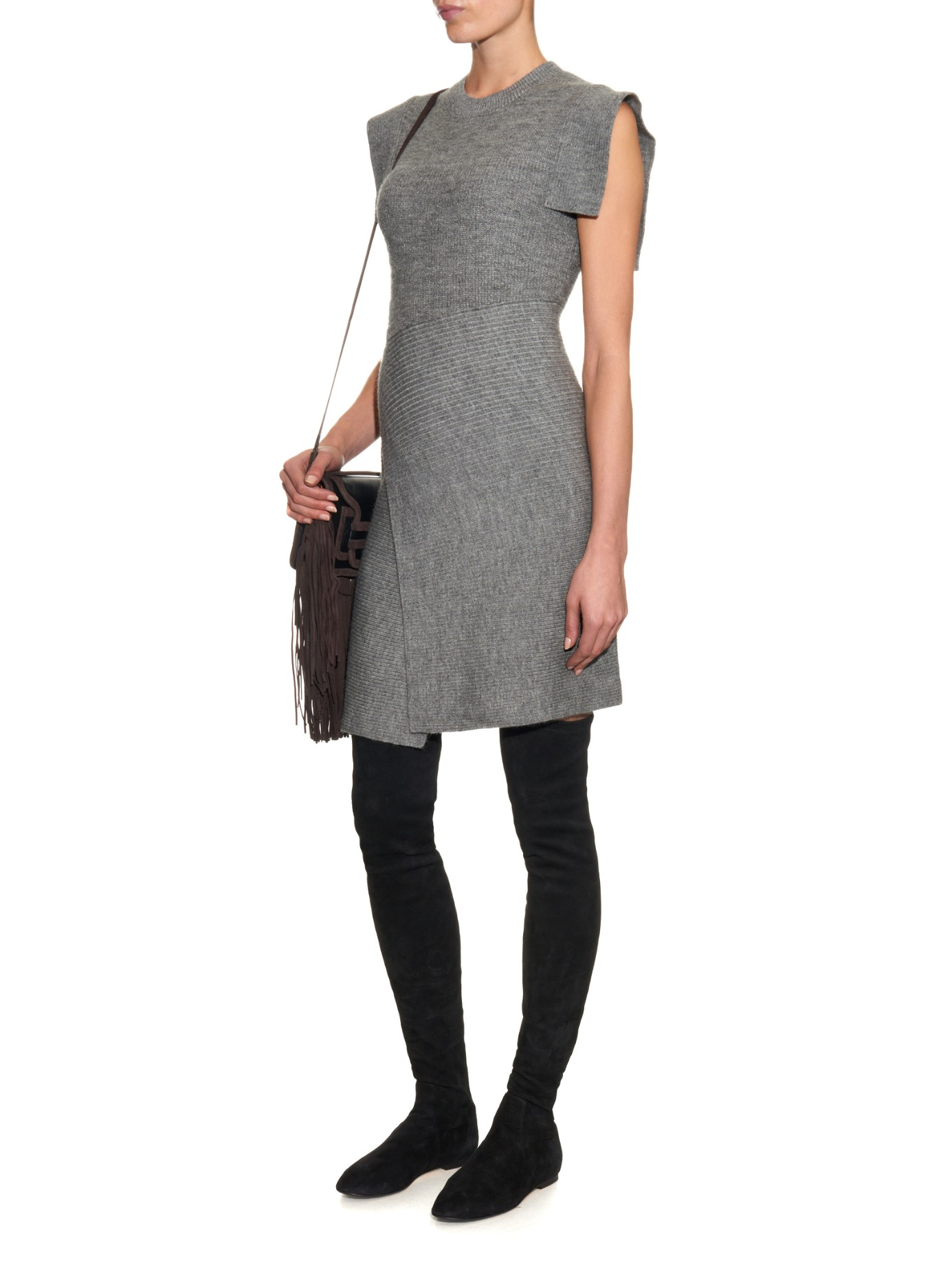 96a3664d66a Isabel Marant Brenna Suede Over-the-knee Boots in Black - Lyst