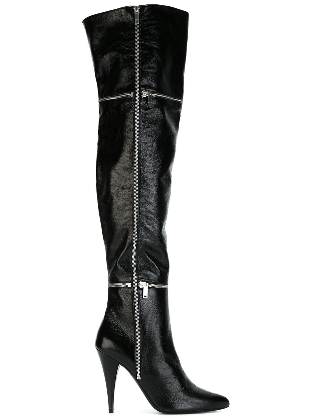 laurent thigh high boots in black lyst