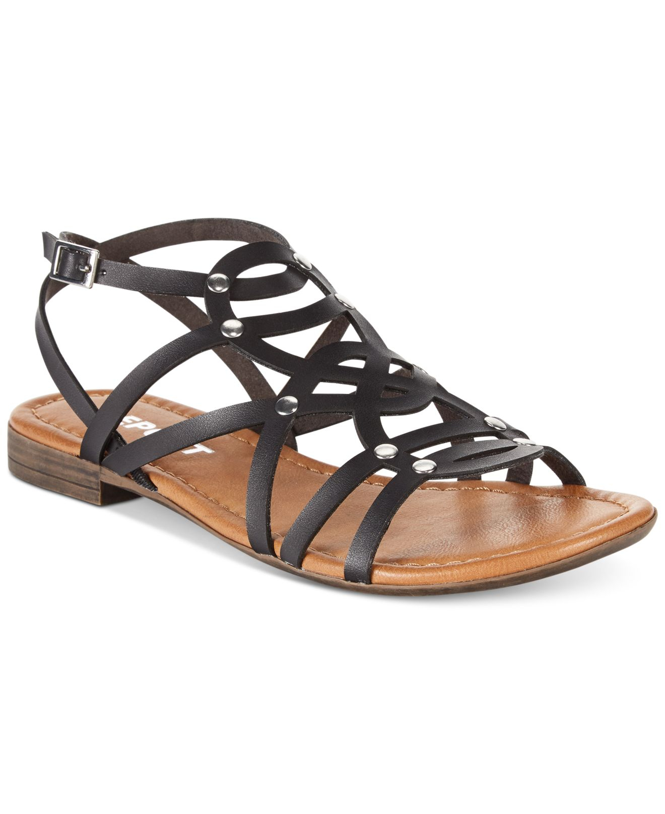 Lyst Report Gamma Flat Gladiator Sandals In Black