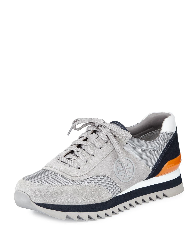 Tory Burch Sawtooth Logo Trainer Sneaker - Lyst