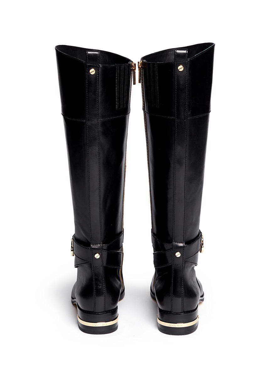 Michael Kors Aileen' Leather Boots in Black