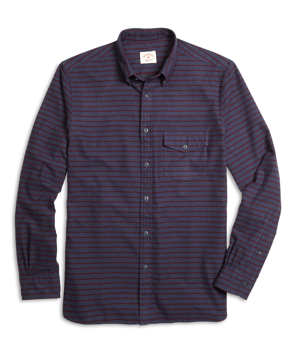 Lyst brooks brothers stripe flannel sport shirt in blue for Brooks brothers sports shirts