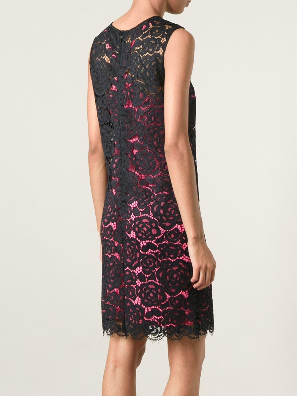 Pink Underlayer Lace Dress