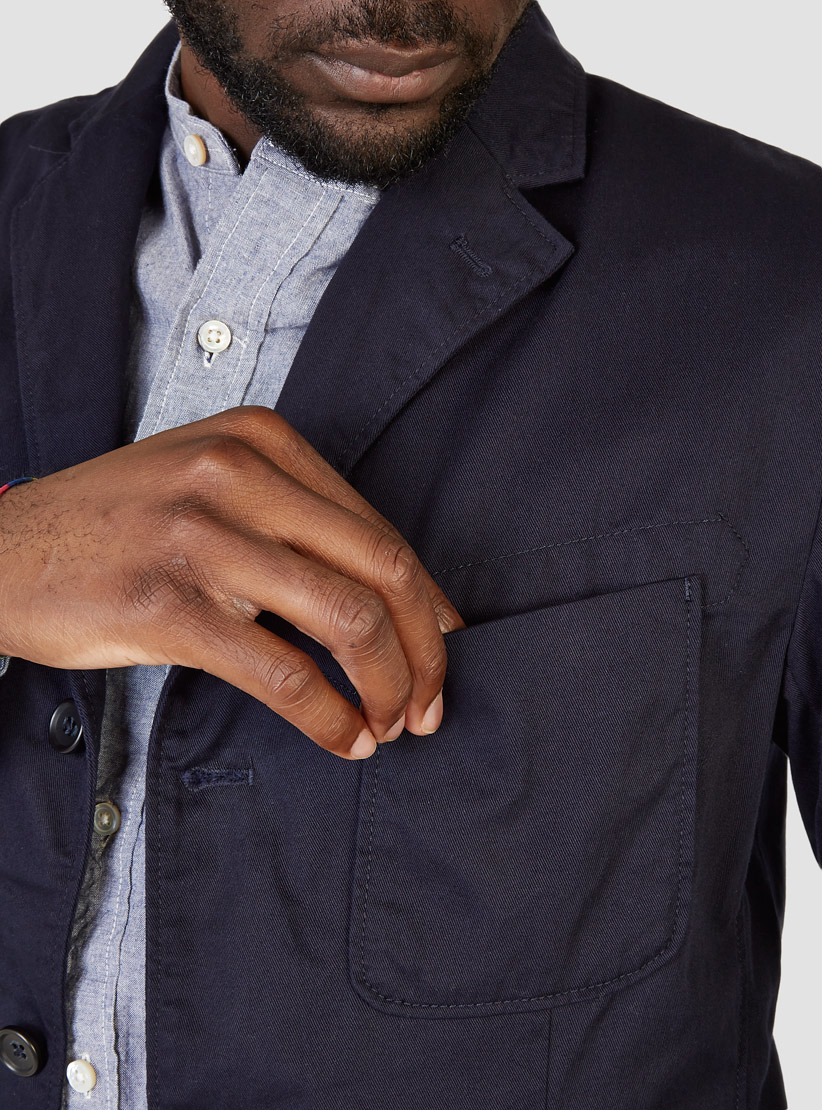 Engineered Garments Baker Jacket Navy Cavalry Twill in Blue for Men