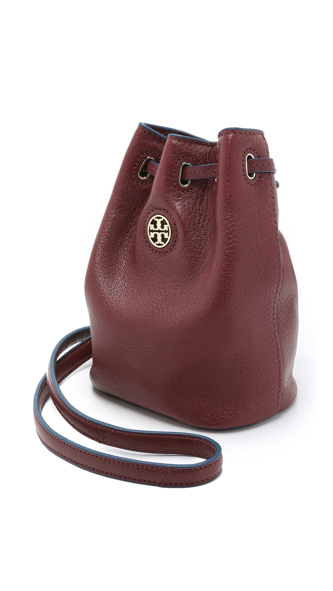 Tory Burch Brody Mini Bucket Bag Deep Berry In Red Lyst
