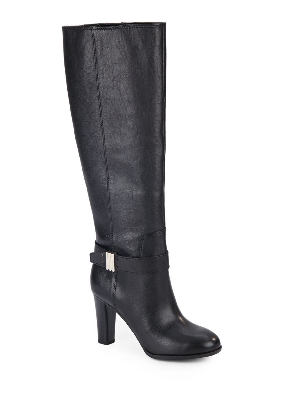 enzo angiolini sumilo leather boots in black lyst
