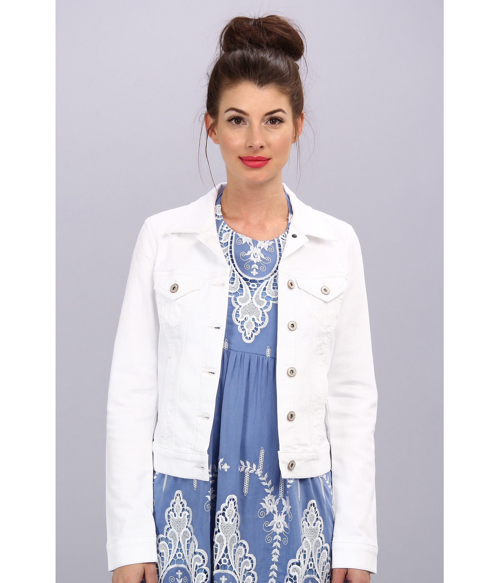 Lyst Mavi Jeans Samantha Denim Jacket In White