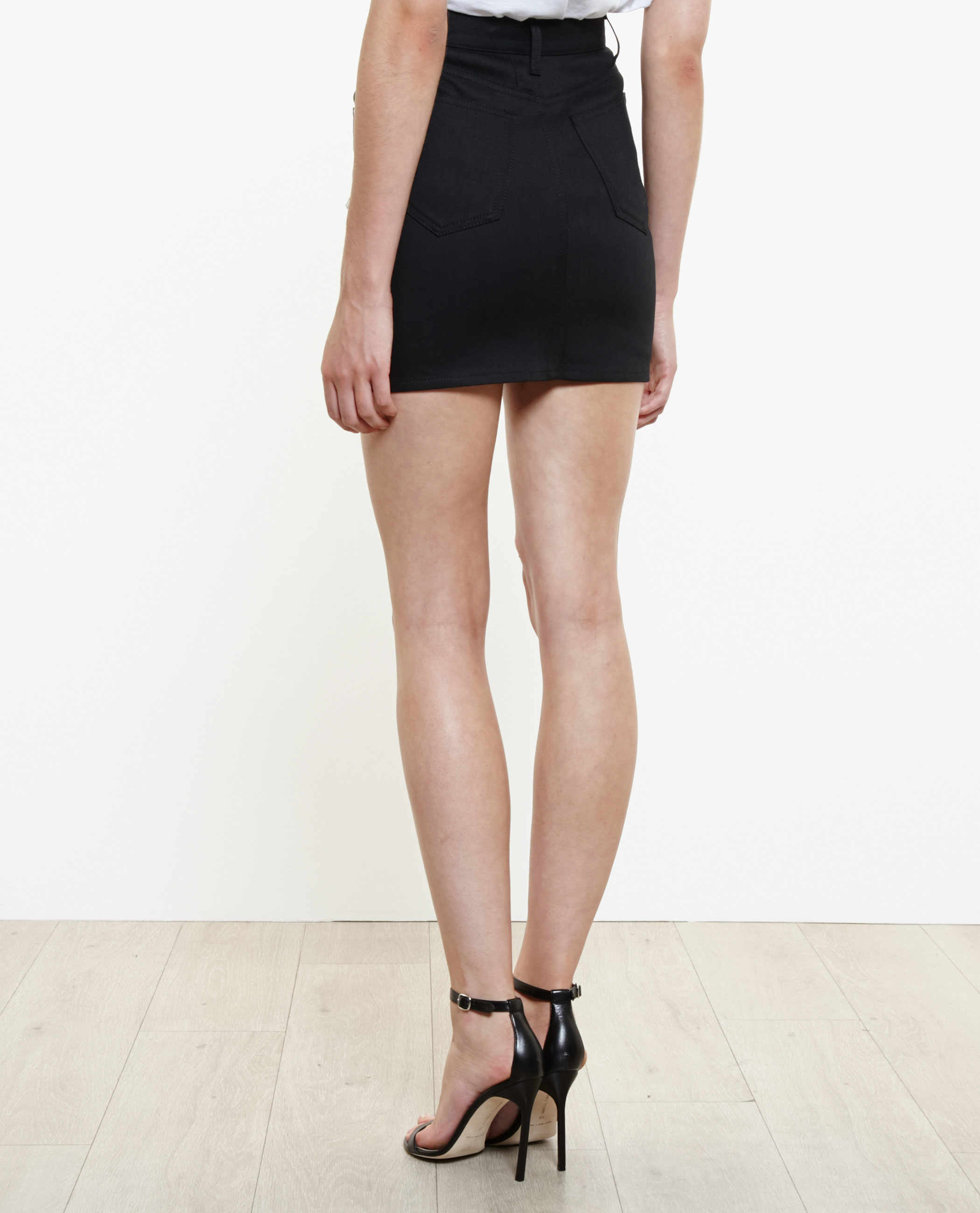 Shop Cheap Price denim mini skirt - Black Saint Laurent 2018 New Sale Online Free Shipping Low Price Real Quality Free Shipping Low Price SZ7RKACW