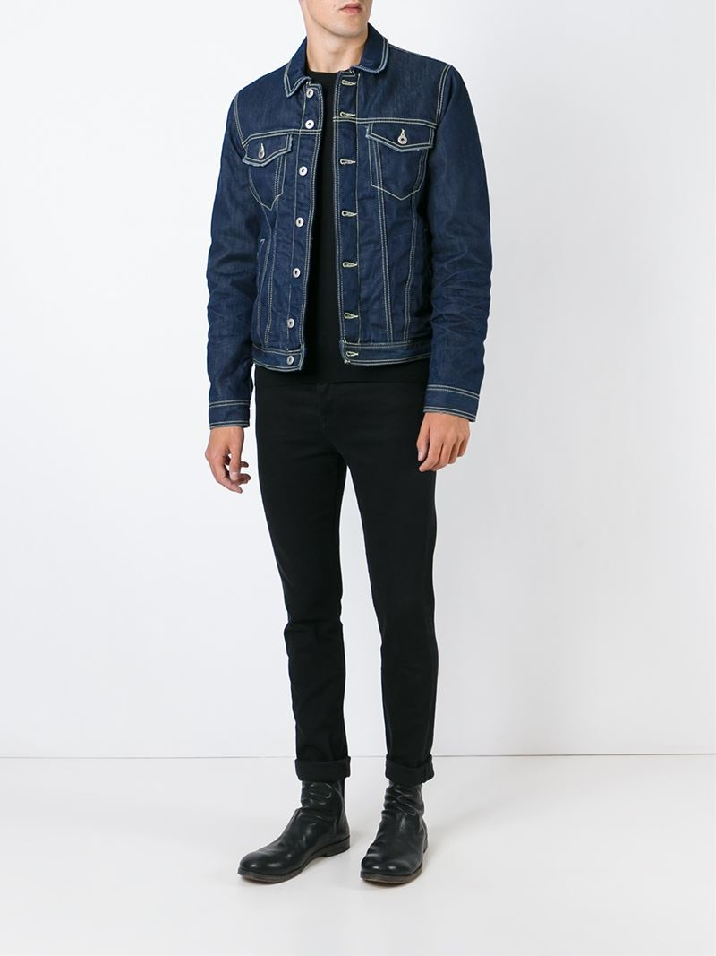 Dondup Buttoned Denim Jacket in Blue for Men