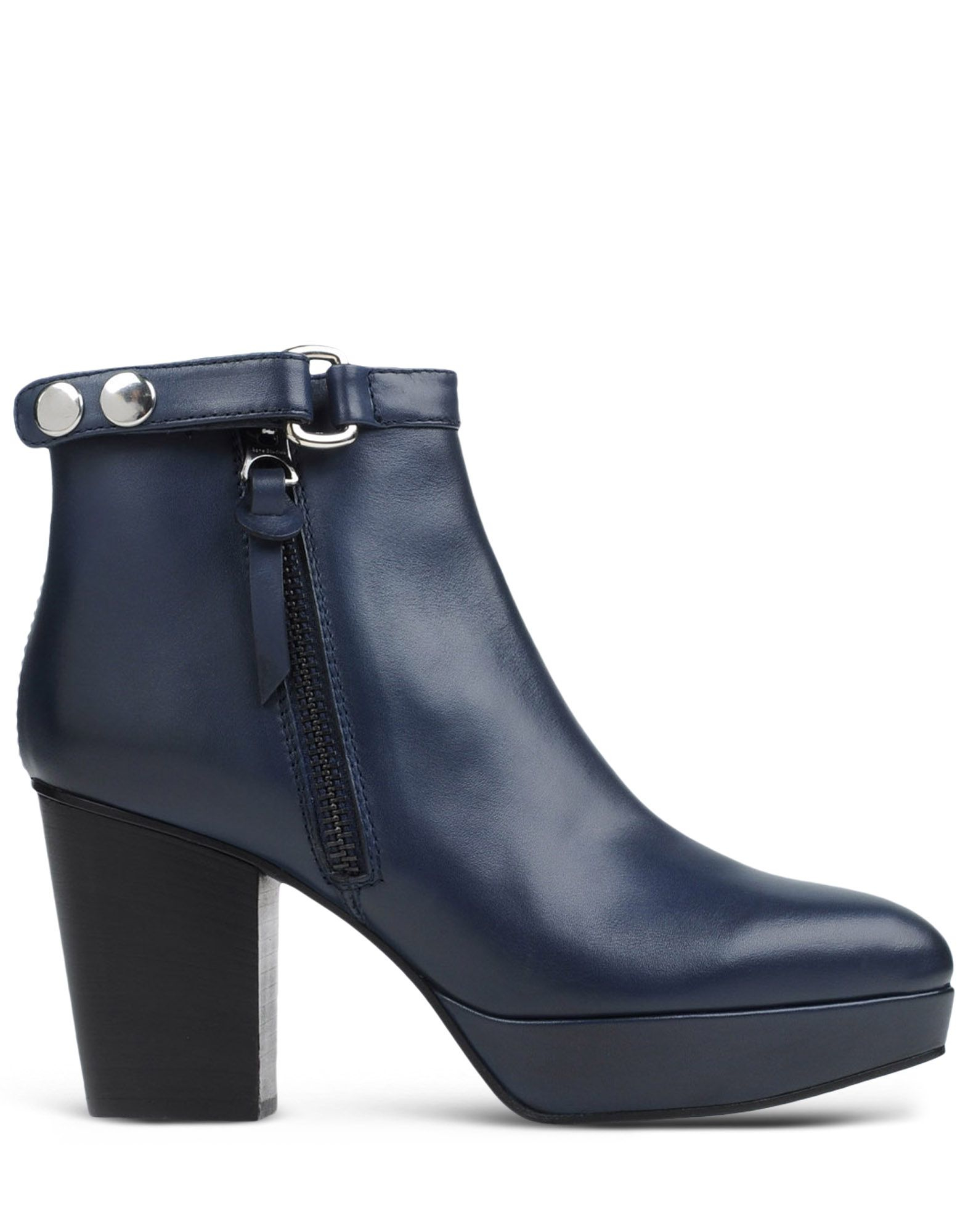 acne ankle boots in blue dark blue lyst. Black Bedroom Furniture Sets. Home Design Ideas