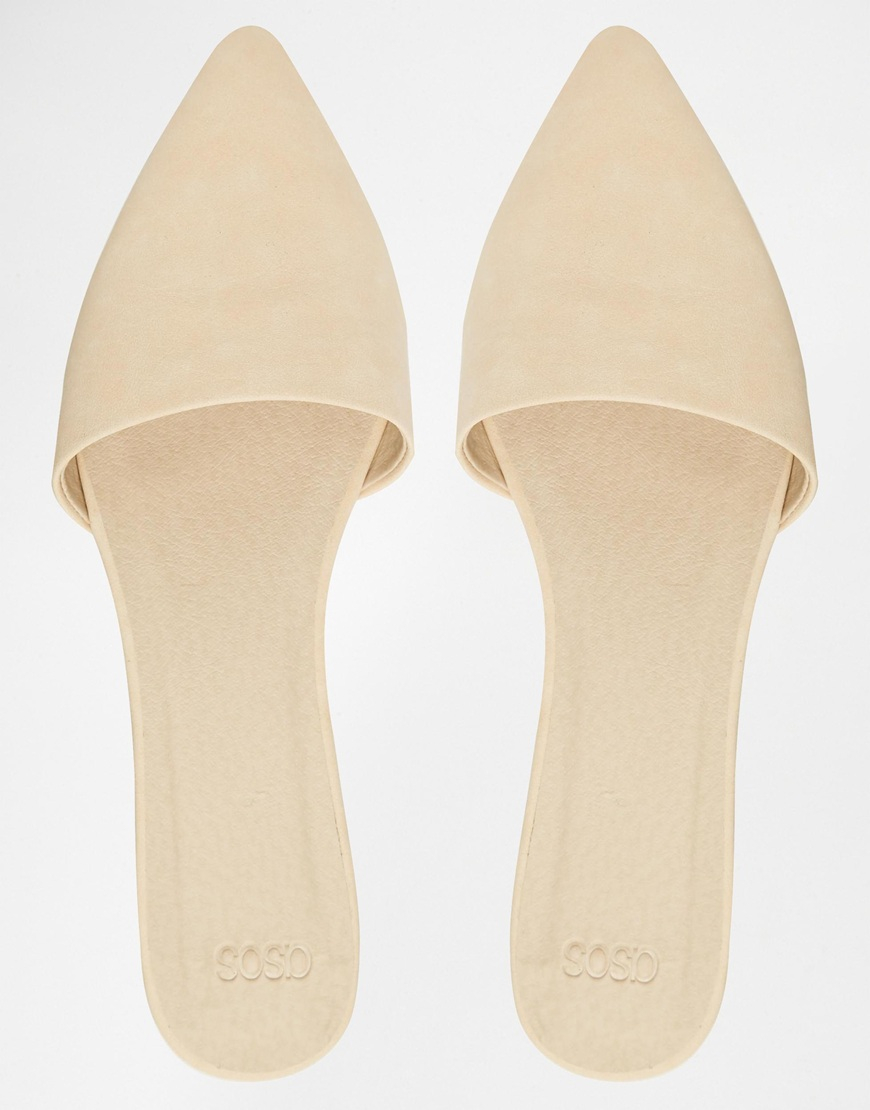 ASOS Laboratory Pointed Mule Ballets in