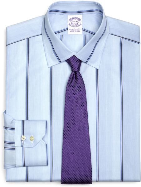 Brooks brothers egyptian cotton slim fit spread collar for Wide spread collar shirt