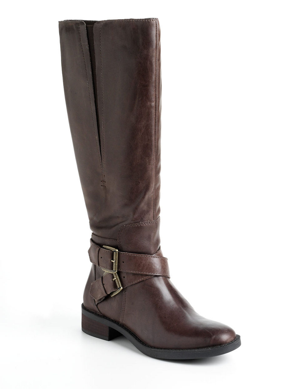 enzo angiolini sporty leather boots in brown taupe