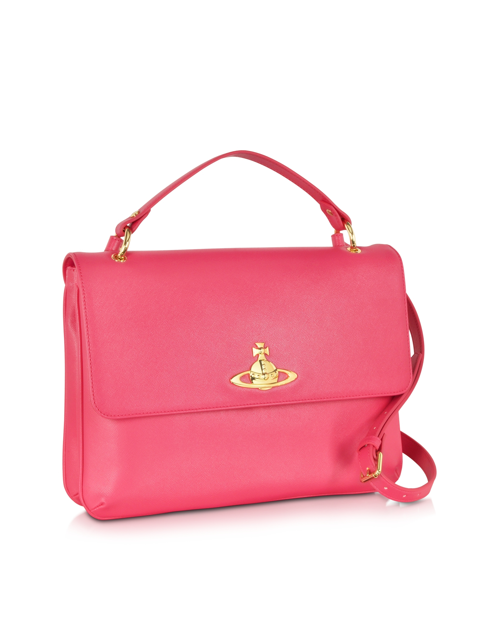 4ba150d948b3 Lyst - Vivienne Westwood Divina Coral Eco-Leather Crossbody Bag in Pink